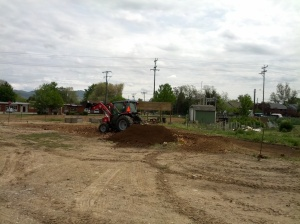 Thank you Gary Casey for doing such a great job tilling in the leaves and organic aged manure.